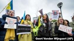 Акція на підтримку України у Брюсселі. 17 березня 2014 року