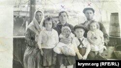 Семья депортированных крымских татар