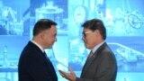 Польшанын президенти Анджей Дуда жана АКШнын энергетика министри Рик Перри келишимге кол коюлганда. Варшава, 8-ноябрь, 2018-жыл.
