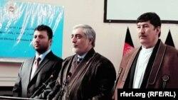 عبدالله عبدالله نامزد انتخابات ریاست جمهوری افغانستان با دو معاونش