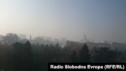 Илустрација-магла во Скопје