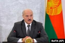 Олександр Лукашенко очолює засідання Ради Безпеки в Мінську, 19 серпня 2020 року