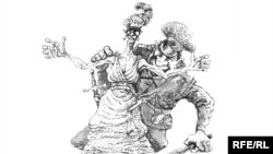 Оьрсийчоь - Кхелан нийсо, Златковски Михаилан карикатура, 13Охан2010