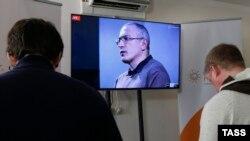 Россия. Онлайн пресс-конференция Михаила Ходорковского. Москва, 09.12.2015.