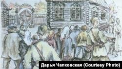 Страница из тетради воспоминаний Евфросиньи Керсновской