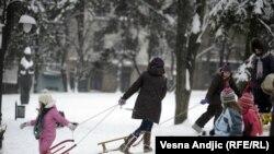 FOTOGALERIJA: Sneg u Beogradu, 13. februar 2012.