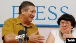 Константин Боровой и Валерия Новодворская, 2005 год