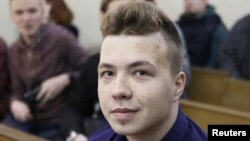 Belarusian journalist Raman Pratasevich (file photo)