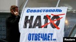 Propagandă anti-Nato la Simferopol, în Ucraina
