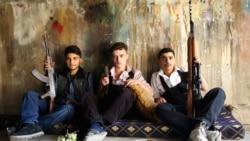 """Бойцы """"Свободной Сирийской армии"""" в пригороде Дамаска. Осень 2014 года"""