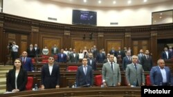 Armenia -- Deputies from the My Step bloc attend a parliament session in Yerevan, September 9, 2019.
