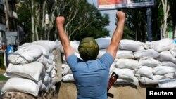 سنگربندی جداییطلبان در شرق اوکراین