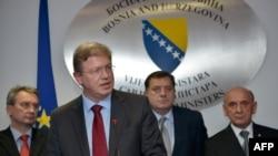 Štefan File sa političarima u BiH, novembar 2012.