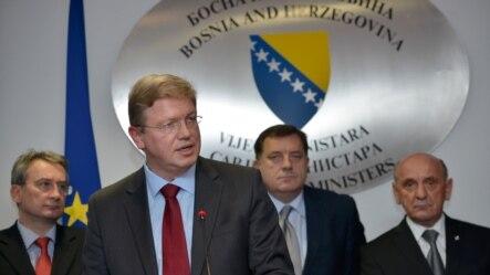 Štefan File na konferenciji za novinare nakon sastanka u Sarajevu, 27. novembar 2012.