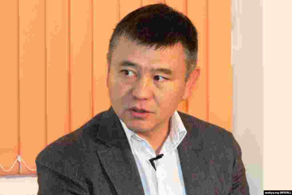 Гражданский активистМухтар Тайжан. Алматы, 20 ноября 2013 года.