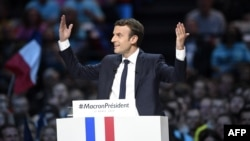 French presidential hopeful Emmanuel Macron