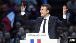 Франция президенттігіне кандидат Эммануэль Макрон.