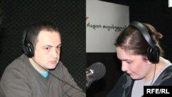 ირაკლი მაჭაარშვილი (მარცხნივ), თამარ გურჩიანი