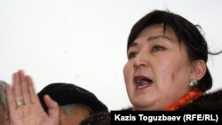 Член политсовета ОСДП Маржан Аспандиярова. Алматы, 17 января 2012 года.