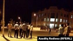 Mingəçevirdə etiraz aksiyası, arxiv fotosu, 21 avqust 2015