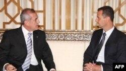 اين اولين سفر رييس جمهوري لبنان به سوريه از زمان ترور رفیق حریری است. (عکس از AFP)