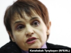 «Голос республики» газеті бас редакторының орынбасары Оксана Макушина. Алматы, 31 наурыз 2011 жыл.