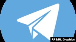 Логотип мессенджера Telegram.