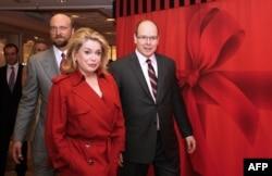 Сергей Пугачев, актриса Катрин Денев и князь Монако Альбер II
