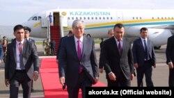 Президент Казахстана Касым-Жомарт Токаев во время первого визита в Таджикистан после вступления в должность. Душанбе, 14 июня 2019 года.