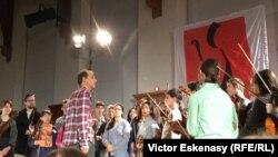 Gilles Apap cu studenții violoniști de la Kronberg Academy