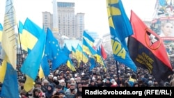 """""""Народное вече"""" в Киеве. 19 января 2014 года."""
