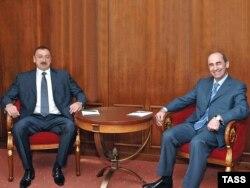 Rusiya - Azərbaycan prezidenti İlham Əliyev və Ermənistan prezidenti Robert Koçaryan.