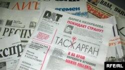 """Депутат Ромин Мадинов сотасқан """"Тасжарған"""" газеті. желтоқсан, 2008 жыл."""
