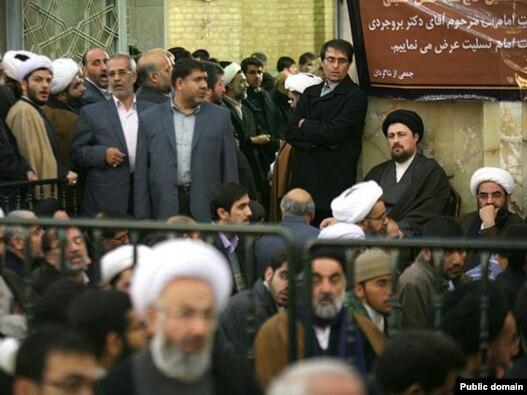 مراسم بزرگداشت محمود بروجردی در قم- عکس: سایت جماران