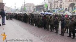 Мітынгоўцы пакінулі будынак Кіеўскай адміністрацыі