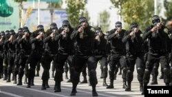 Special anti-riot security forces in Iran during drills. FILE photo