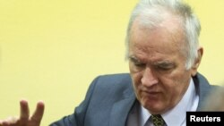 Ратко Младич в залі суду в Гаазі, 16 травня 2012 року