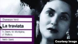 """Coperta înregistrării italiene a operei """"Traviata"""" cu Virginia Zeani"""
