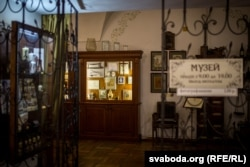 Унутры аптэкі-музэя ў Горадні