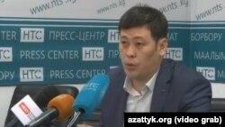 Юрист телекомпании НТС Амантур Абдрахманов.