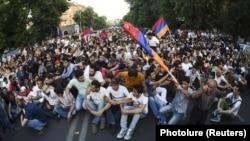 Акція протесту 22 червня в центрі вірменської столиці Єревані