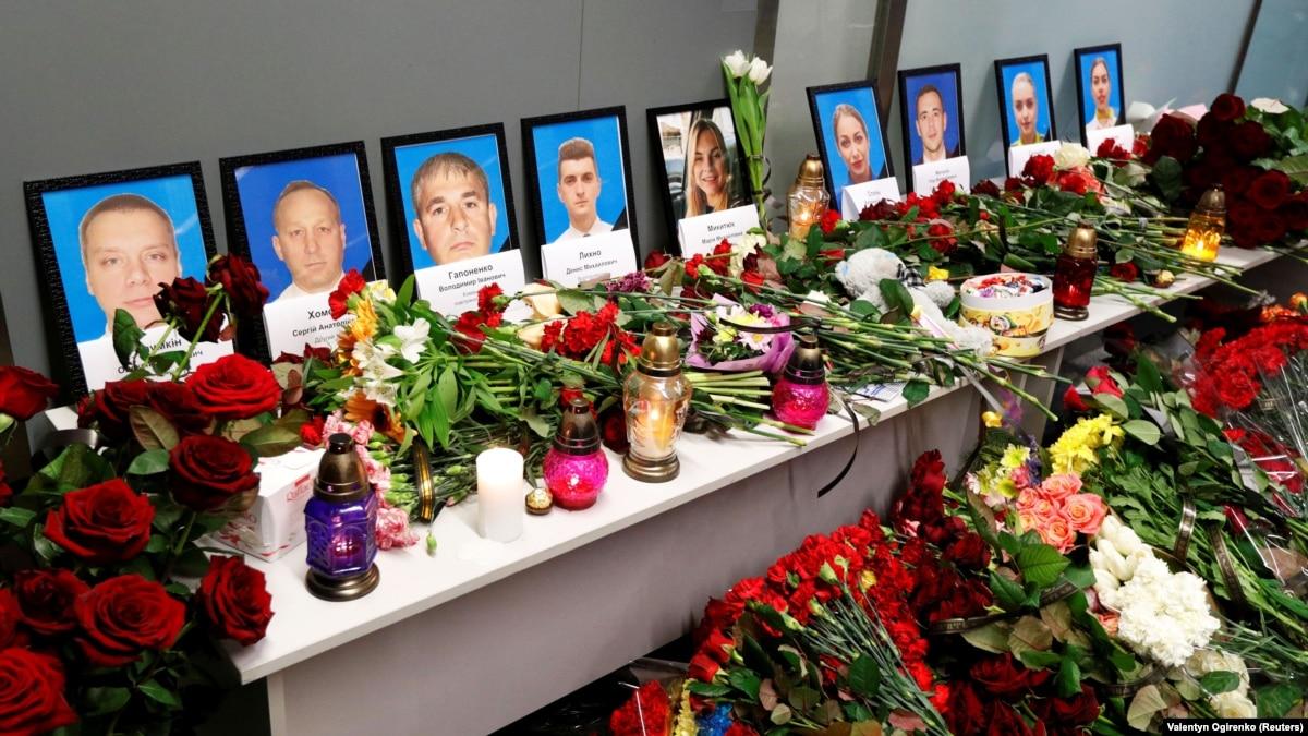 40 дней от катастрофы самолета МАУ: для чествования жертв в «Борисполе» открывают сквер (трансляция)