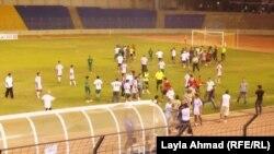 الفريق العراقي يتعرض لإعتداء من إداريي لبنان