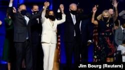 Kamala Harris i Joe Biden nakon proglašenja pobjede