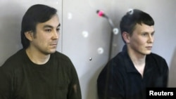 Євген Єрофеєв (л) та Олександр Александров, 18 квітня 2016 року