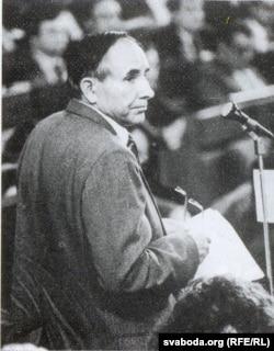 Анатоль Вярцінскі ў Авальнай залі. 1993 г.
