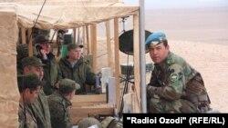 Совместные таджикско-российские учения на полигоне «Харбмайдон».