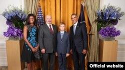 Александр и Николай Лукашенко с Бараком и Мишель Обама