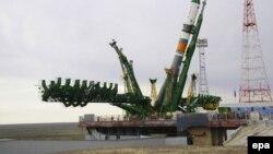 """Грузовой корабль """"Прогресс М-27М"""" готовится в запуску на Байконеру. Иллюстративное фото."""