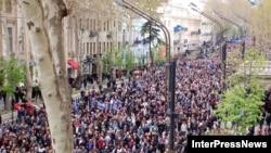МВД и оппозиция не сошлись в оценке числа участников митинга в Тбилиси